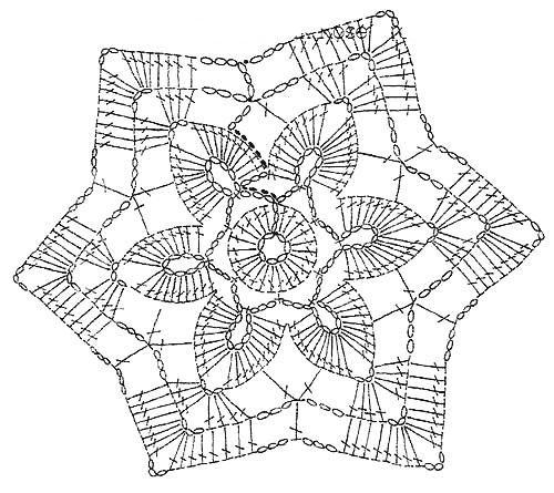 FREE DIAGRAM ~ Crochet Art: Small colored crochet doilies