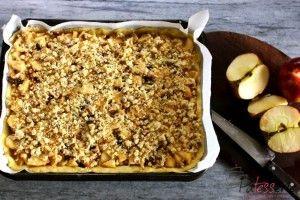 Appel plaat taart met walnoten - PaTESSerie