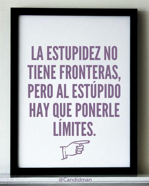 La estupidez no tiene fronteras (pin por @pablocoraje)