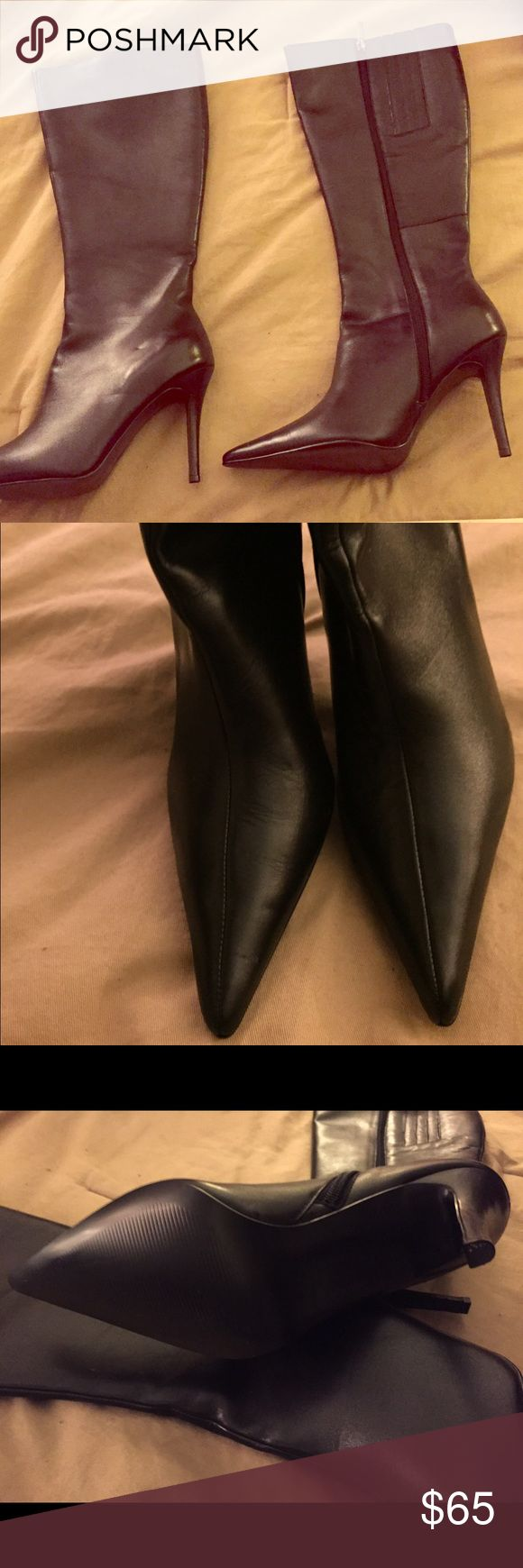 Colin Stuart Boots NEW Colin Stuart high heeled boots in black. That are brand new, no box. They are a size 8.5. They are leather. Colin Stuart Shoes Heeled Boots