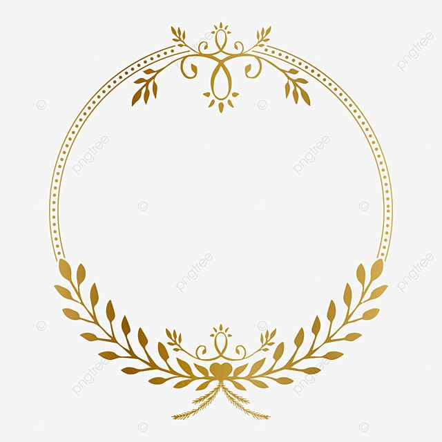Golden Circle Frame With Beauty Floral Vintage Ornament Vector Illustration Photo Clipart Golden Ornament Png And Vector With Transparent Background For Free In 2021 Circle Frames Framed Photo Collage Ornament Frame