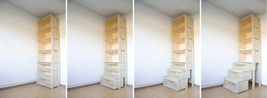 StairCASE: Ladder & Shelving Unit by Danny Kuo | Apartment Therapy