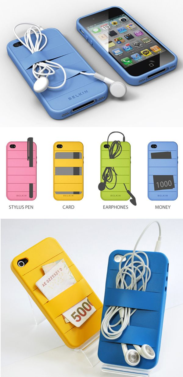 Endlessly Handy Elastic iPhone Case...except you aren't supposed to put your debit/credit card against your phone...great for other stuff like earbuds though!