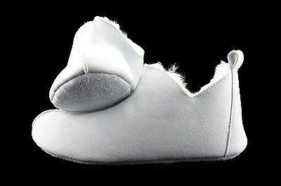 Lammfell-Leder-Mokassin-Hausschuhe-Pantoffeln-Huettenschuhe-ballerina-Weiss-36-42