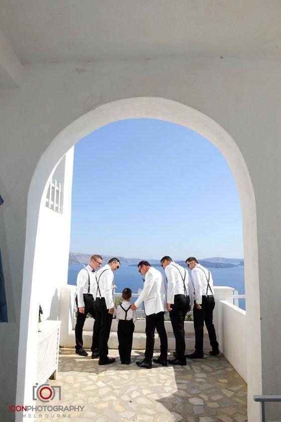 Groomsmen - Archway - Santorini Wedding Greece