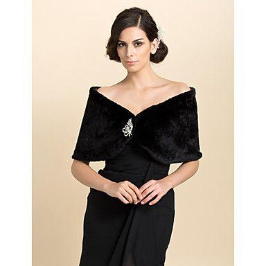 Fur+Wraps+/+Wedding++Wraps+Shrugs+Faux+Fur+Ivory+Wedding+/+Party/Evening+/+Casual+–+USD+$+14.99