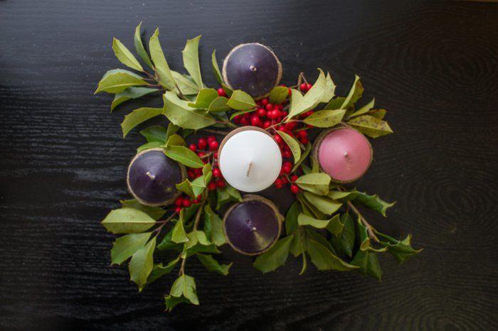 ideen adventskranz dekoideen weihnachten bedeutung kerzen farbe