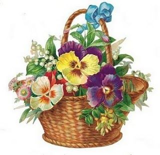 Vintage Pansy Basket ~ Heirlooms For You