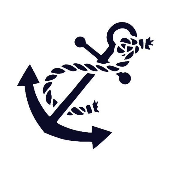 Anchor with rope nautical decal by stickitvinylsllc on etsy starting at 2 99