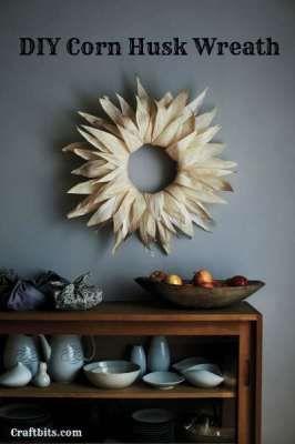 DIY Corn Husk Wreath — craftbits.com