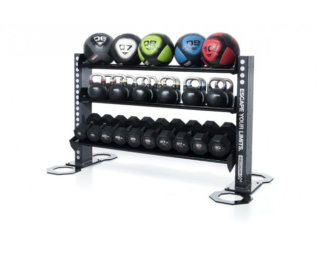 Storage Solutions › Gym equipment accessory storage racks. https://uk.pinterest.com/uksportoutdoors/home-gyms/pins/