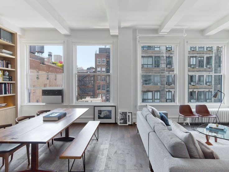 Inside A Minimalist New York City Apartment Filled With Natural Light Living Room Decor Modern Apartment Interior Trendy Living Rooms Modern new york living room