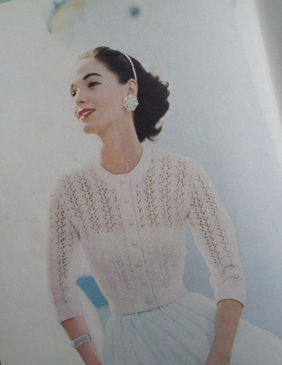 VOGUE Knitting Book 1957 No. 50 - Vintage Knitting Patterns 1950s Womens 50s original patterns