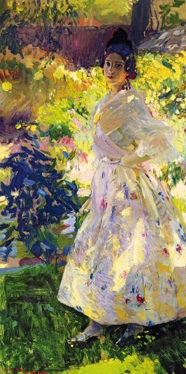 Joaquin Sorolla, Patio de Comares Alhambra, 1917, olio su tela, 845x1065 cm, Madrid, Museo Sorolla