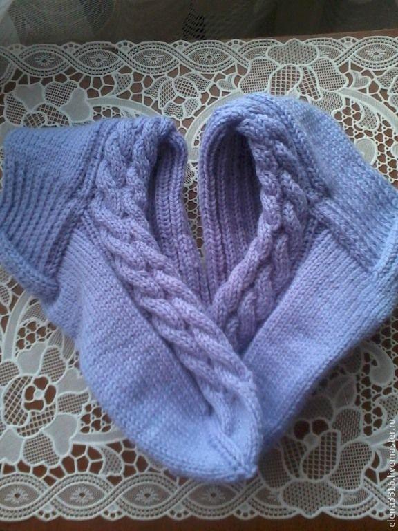 """Купить Носочки """" Сиреневые"""" ( Меринос) - сиреневый, носки, носки ручной работы"""
