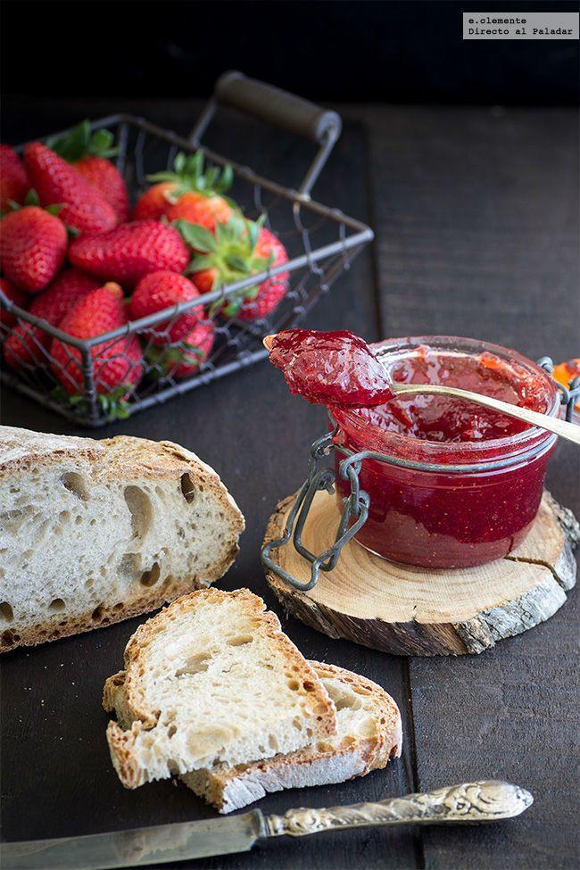 Mermelada rápida de fresa. Receta  http://paraadelgazar.ws/mermelada-rapida-de-fresa-receta/ Salud y Bienestar