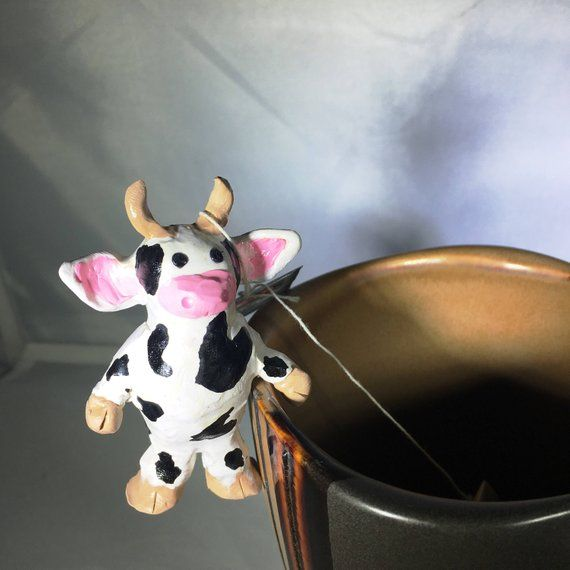 Cow Decor Tea Bag Holder