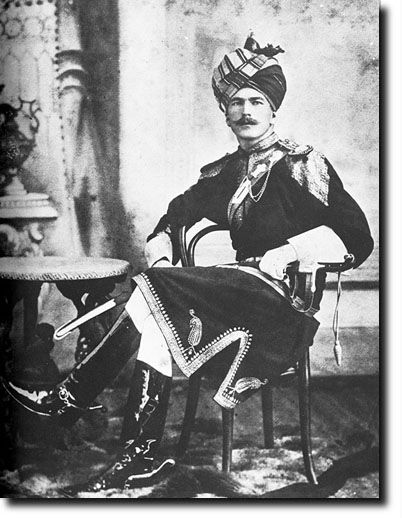 British Empire: 11th Bengal Lancers British Officer in Indian Full Dress, c1890