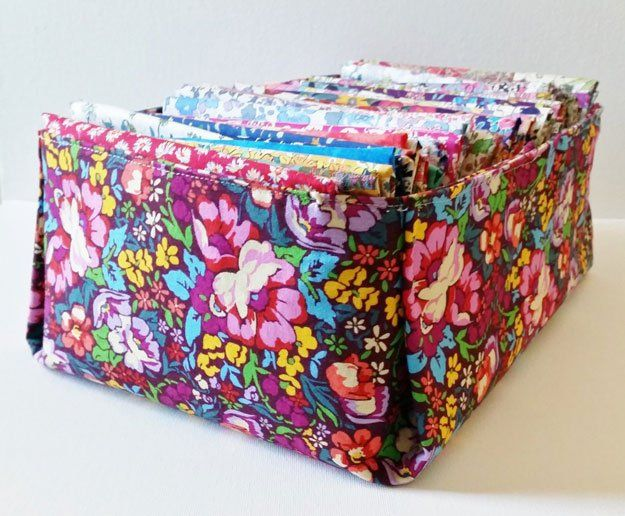Fabric Box | 15 Sewing Room DIY Organization