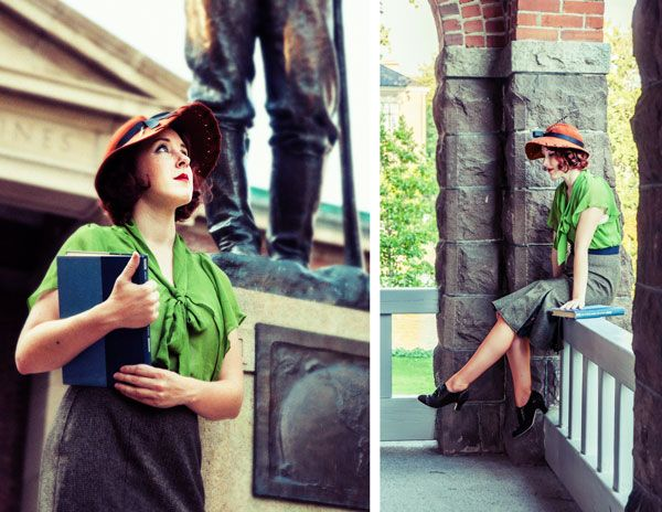 Glam Your Gams with 1930's Oxfords {American Duchess} The entire shoot is gorgeous! And love the outfit...