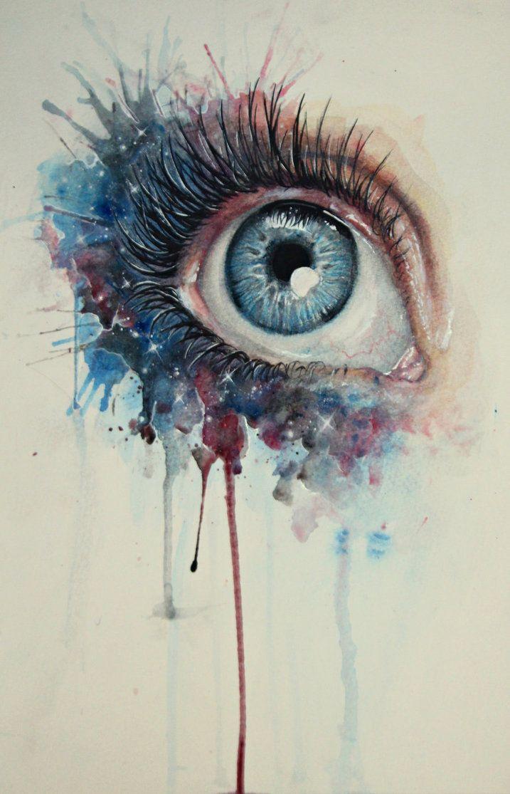 Daydreaming by ~BenjiiBen on deviantART #watercolor #eye #art