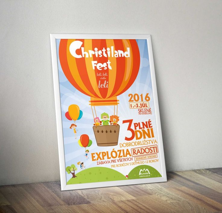 Design for family festival, poster, t-shirt, flyers