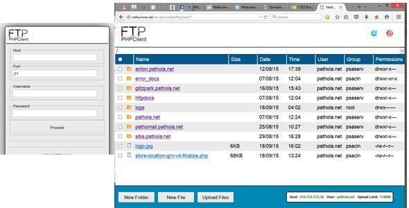 PHP FTP Uploader - http://www.codegrape.com/item/php-ftp-uploader/7690