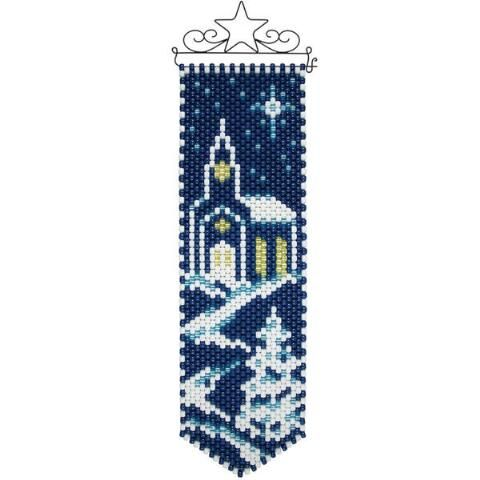 Herrschners®  Winter Church Beaded Banner Kit