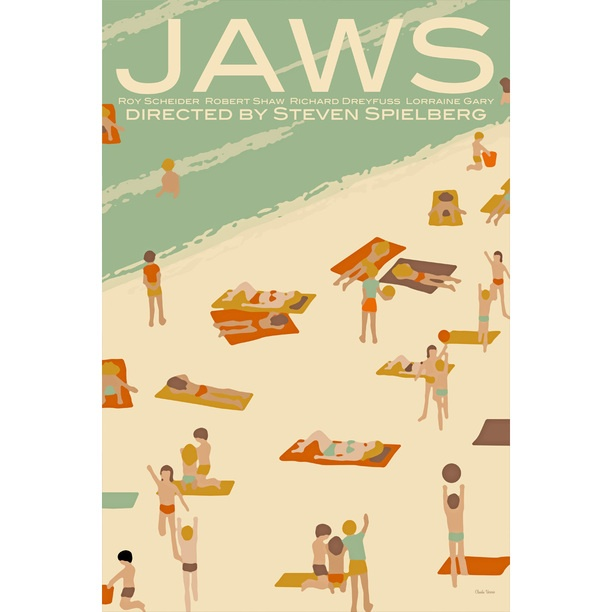 Check out this Jaws fan poster from Claudia Varosio