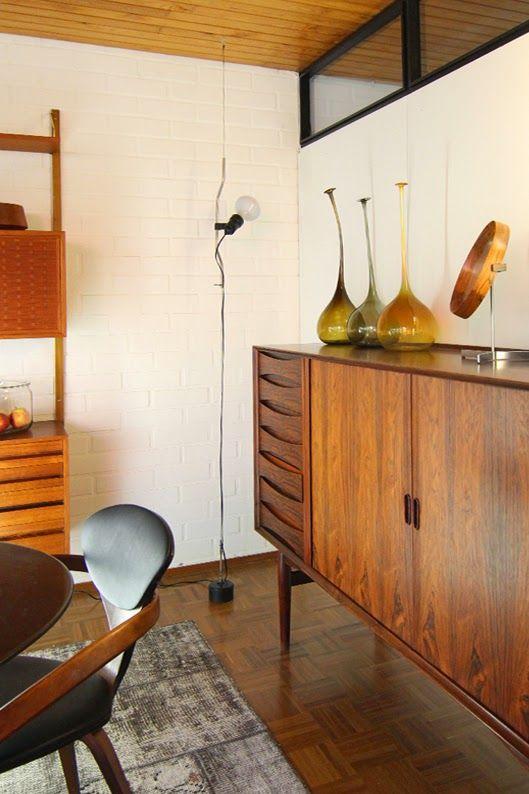 Mid Century Living Room | 'Parentesi' Light | Achille Castiglioni and Pio Manzu