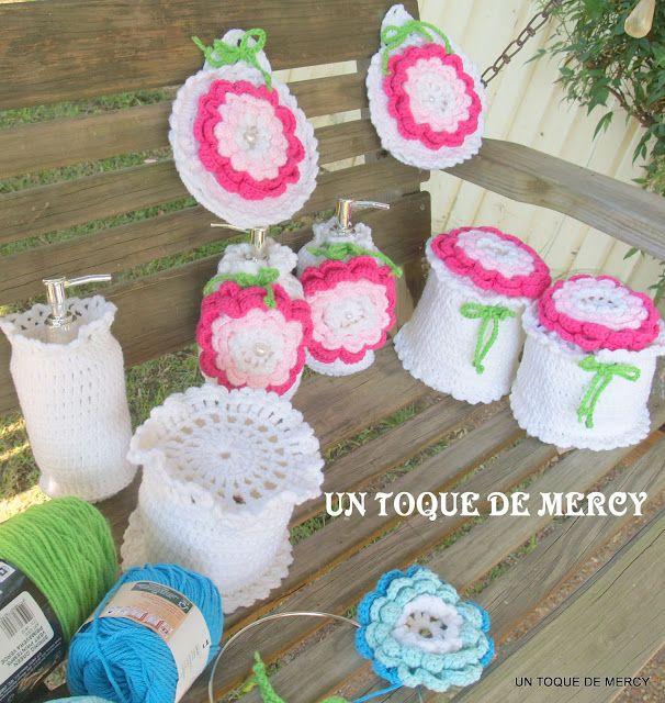 Organizador De Baño En Crochet:Tejidos De Crochet Para Bano