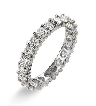 Обручальное кольцо SFM France из белого золота с бриллиантами