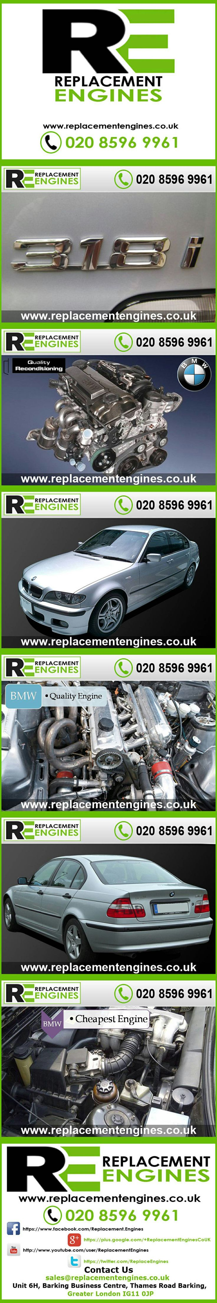 BMW 318i engines for sale at the cheapest prices, we have low mileage used & reconditioned engines in stock now, ready to be delivered to anywhere in the UK or overseas, visit Replacement Engines website here.