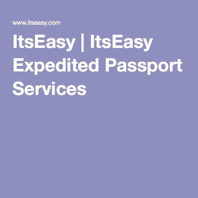 ItsEasy | ItsEasy Expedited Passport Services
