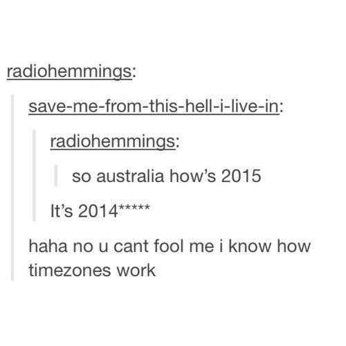 How timezones work.