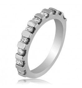 0.52 CT Diamond Ring In 18k White Gold