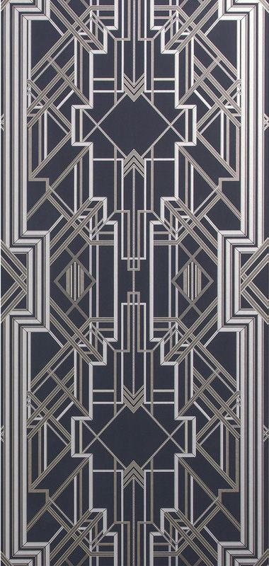Metropolis Wallpaper Marcasite 897 By Catherine Martin By