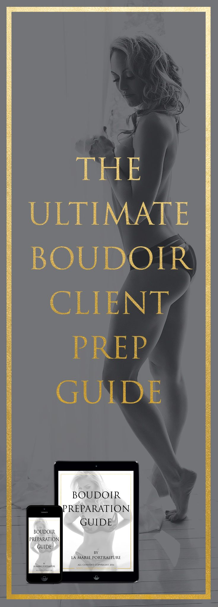 $2.99 - The Ultimate Boudoir Client Prep Guide. Everything you need to know to be prepared and feel confident for your Boudoir Shoot! #boudoirprepguide #boudoir #boudoirguide #boudoirpreptips #boudoirtips