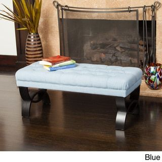 Scarlette Tufted Fabric Ottoman Bench by Christopher Knight Home - Free Shipping Today - Overstock.com - 16545613 - Mobile