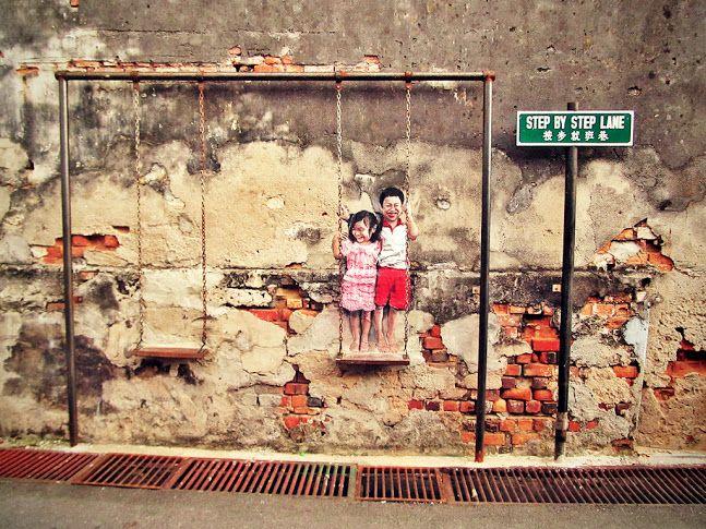 Стрит арт малайского острова Пинанг
