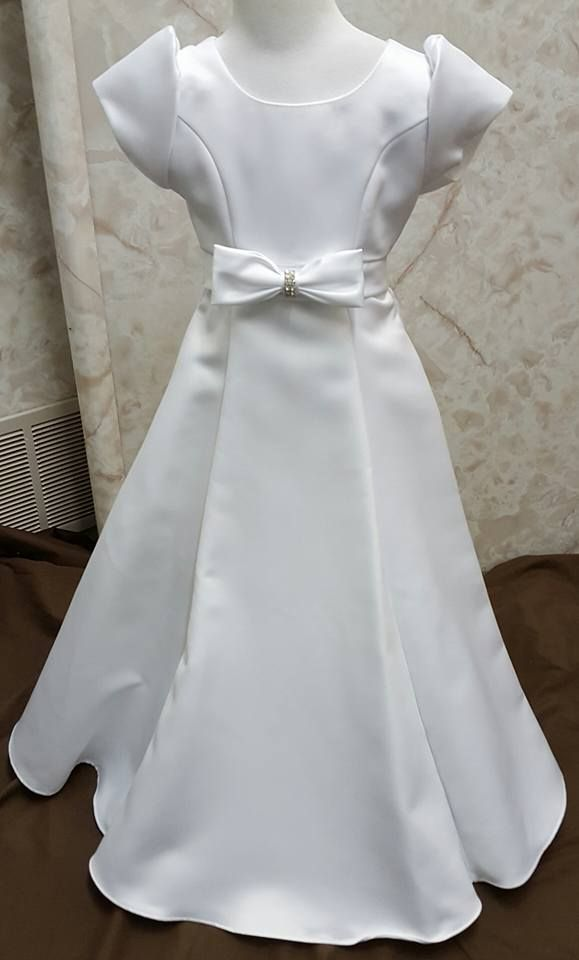 d720d24ad3a  40 flower girl dress. Cheap flower girl dresses. Girls long white short  sleeve dress in size 4.  girlsdresssale  flowergirldresses