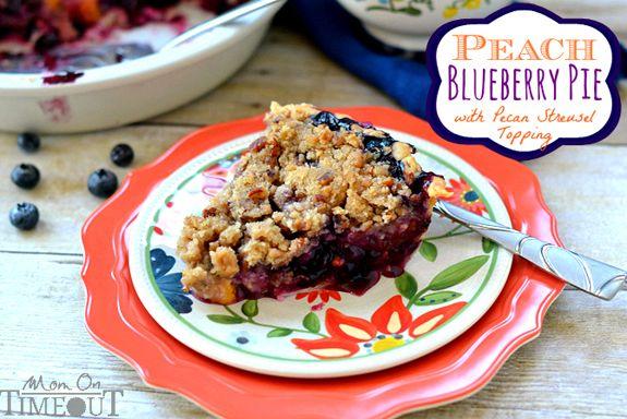 Peach Blueberry Pie Recipe - SheSaved®