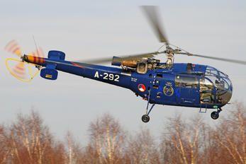 A-292 - Netherlands - Air Force Sud Aviation SA-316 Alouette III (115 views)
