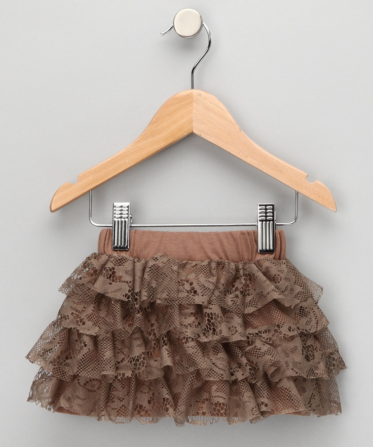Brown Helena Lace Skirt