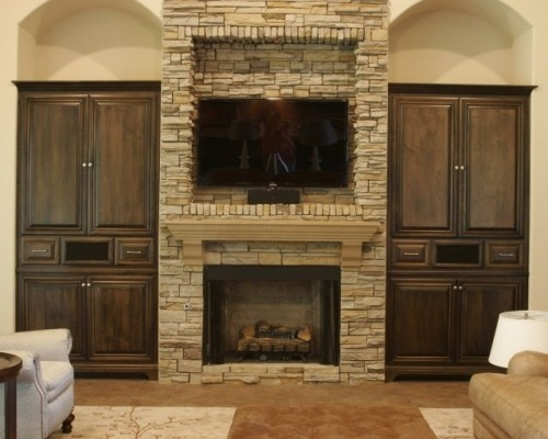 Recessed Tv Above Fireplace Home Makeover Ideas