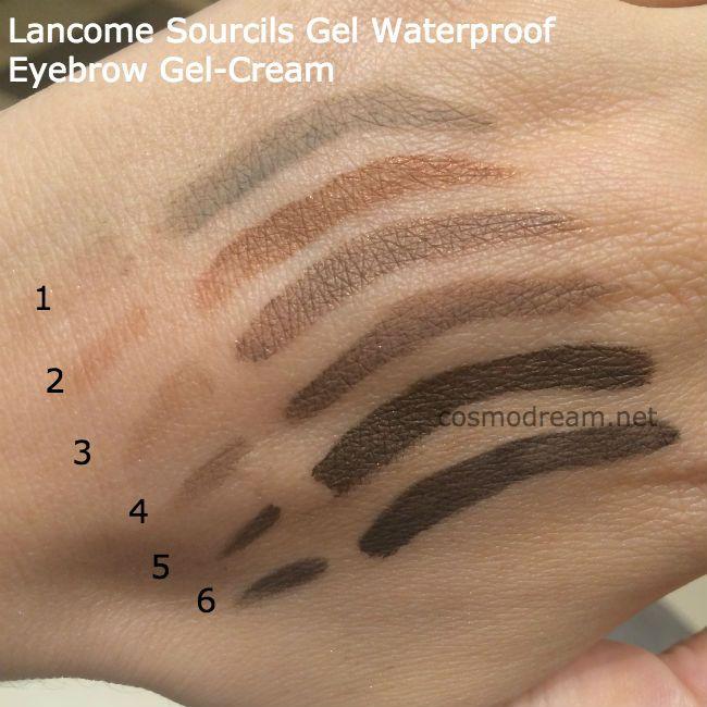 свотчи Lancome Sourcils Gel Waterproof Eyebrow Gel Cream