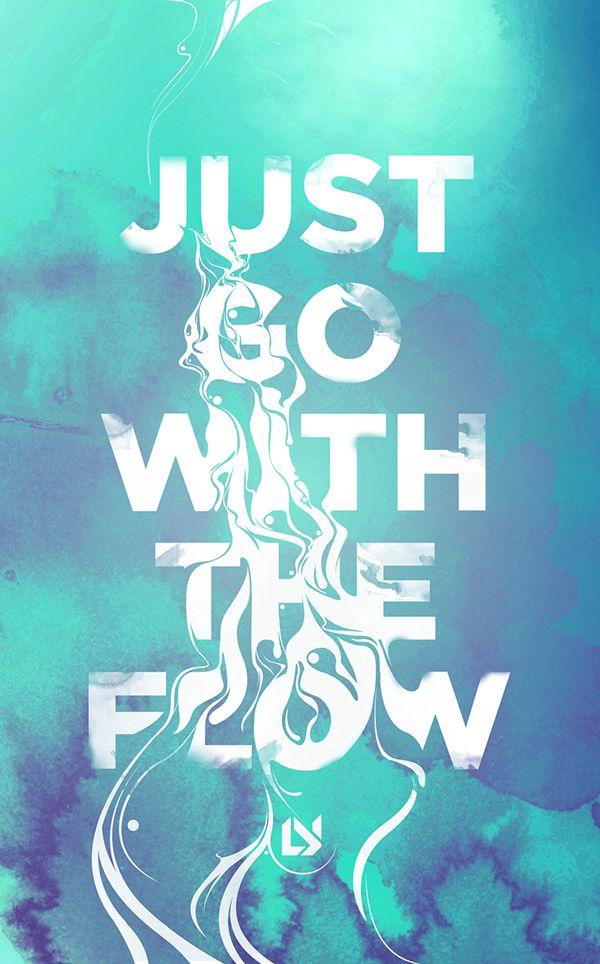 Flow – Typographic Poster