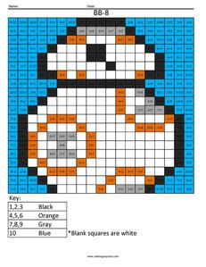 BB-8 Addition- Star Wars math pages