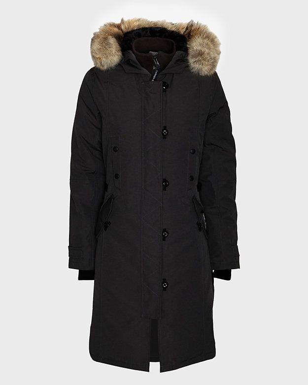 Canada Goose parka online cheap - Canada Goose Kensington Fur Trim Long Jacket: Black | My Style ...