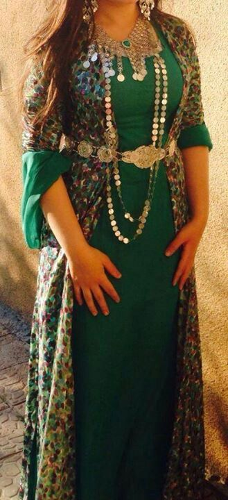 Green kurdish dress